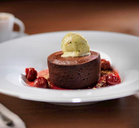 Artfully crafted dessert