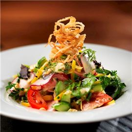 Appetising fresh salad