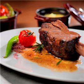 Savory grilled rib